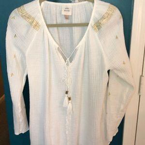 Tops - Knox Rose cream gauze boho blouse